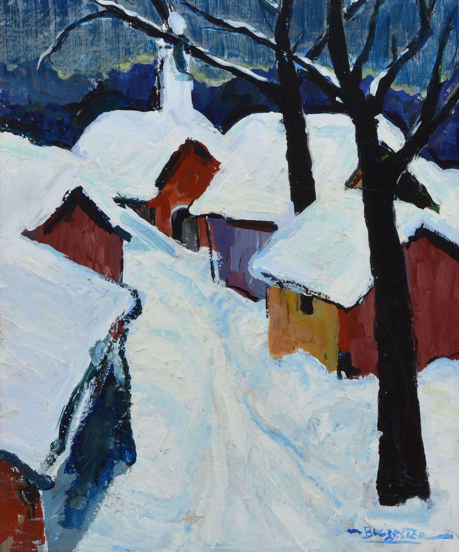 Maxim Bugzester - Modernist Winter Landscape by Maxim Bugzester ...