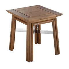 Maxim Natural Side Table by Braid Outdoor