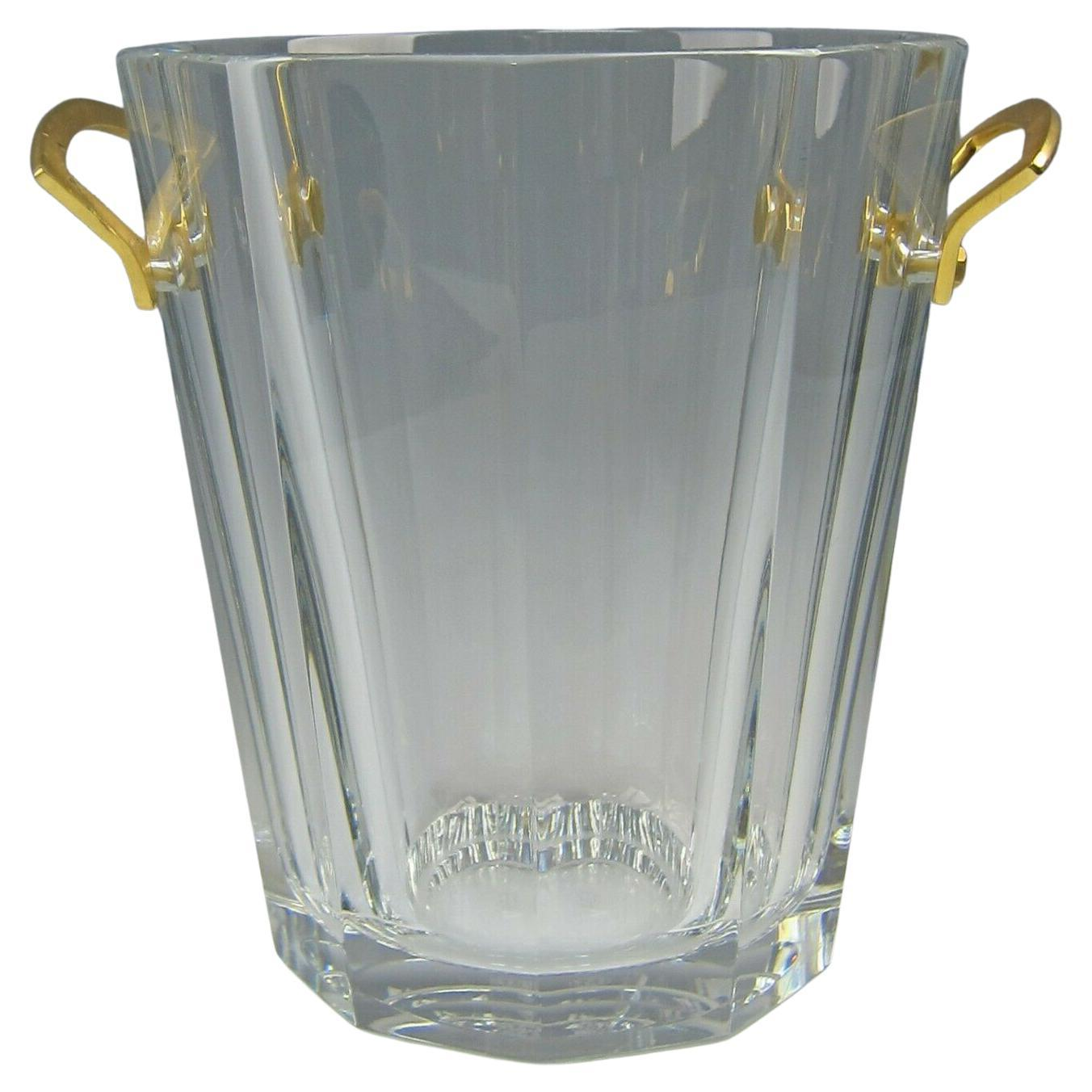 Maxim Vintage French Crystal Bronze Baccarat Champagne Ice Bucket Wine Cooler