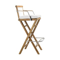 Maxim White Stool by Braid Outdoor