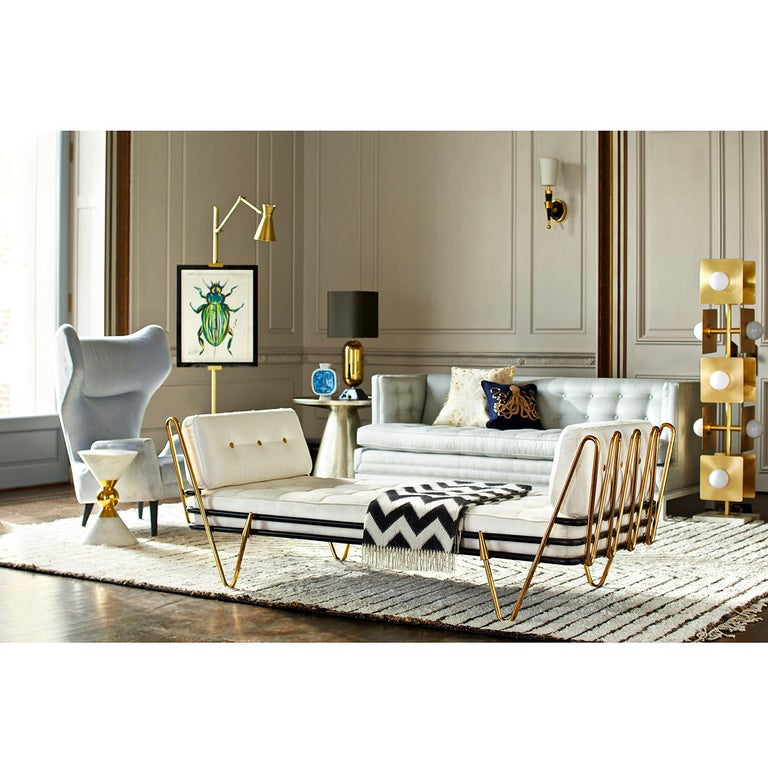 American Maxime Brass Daybed For Sale