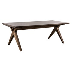 Maxime Old Apparat Dining Table in Satine Sycamore and Brushed Oak