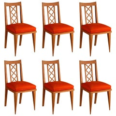 Maxime Old Set of 6 Oak Dining Chairs