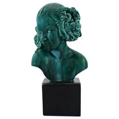 Maxime Real del Sarte for Sevres, Art Deco Sculpture of Young Woman