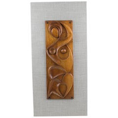Maxime Tendero 1973 Abstract Wooden Wall Art Sculpture Panel