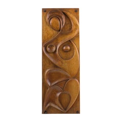 Maxime Tendero 1973 Abstract Wooden Wall-Mounted Art Sculpture Panel