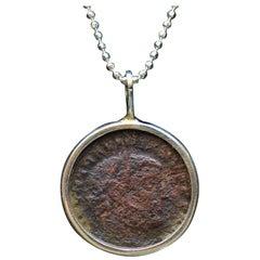 Maximianus Roman Coin Silver Necklace