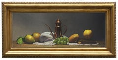EMBRACE OF FRUIT - Italian still life oil on canvas painting, Maximilian Ciccone