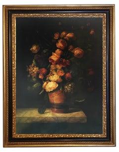 FLOWERS - Maximilian Ciccone Italian still life oil on canvas painting