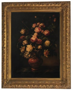 Flowers - Maximilian Ciccone Still Life Oil On Canvas Italian Painting