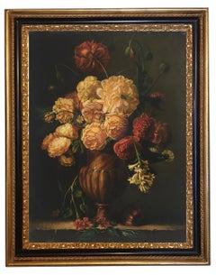 Flowers - Maximilian Ciccone Still Life Oil On Canvas Italian Painting