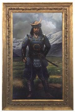 SAMURAI - Maximilian Ciccone Oil on Canvas Italian Figurative Painting