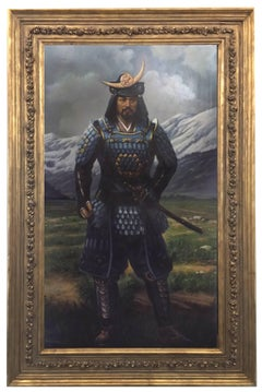 SAMURAI - Maximilian Ciccone Oil on Canvas Italian Figurative Painting