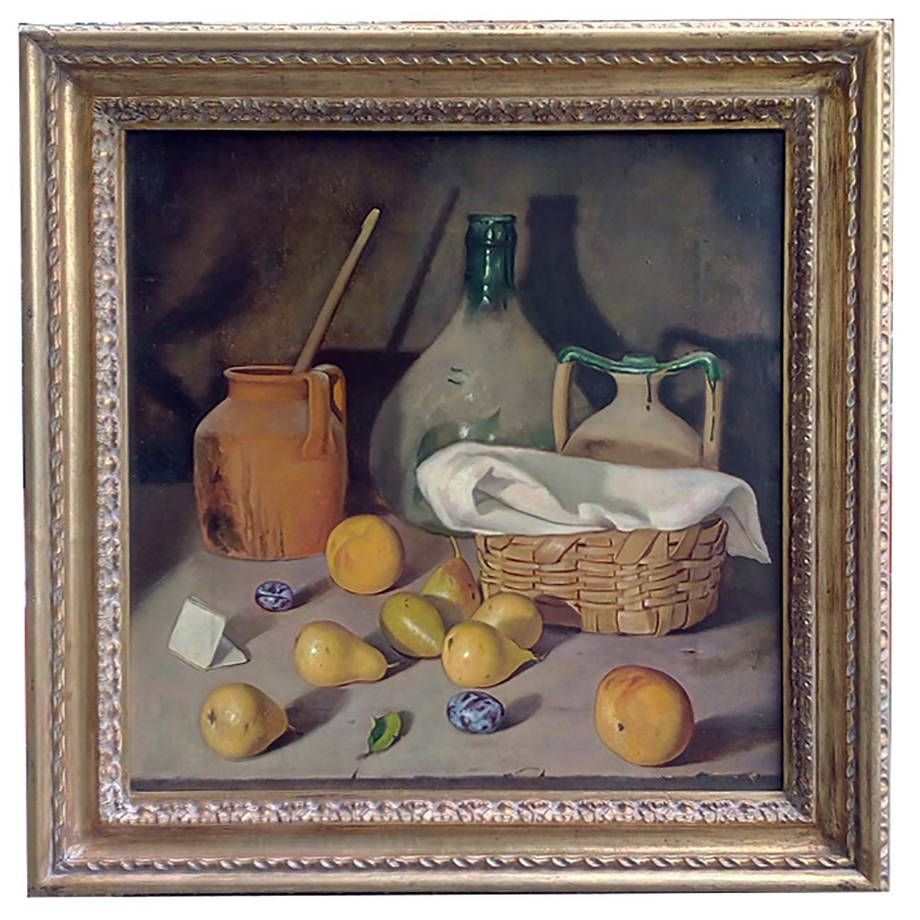 STILL LIFE - Hyper - Realistic -Italian Oil on Canvas Painting