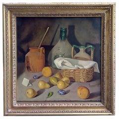 STILL LIFE - Maximilian Ciccone Italian oil on canvas painting