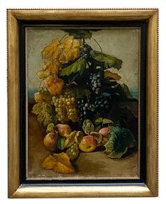 STILL LIFE - Neapolitan School - Oil On Canvas Italian Painting