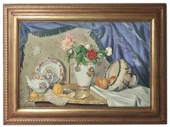 STILL LIFE - Hyper - Realistic - Oil on Canvas Italian Painting
