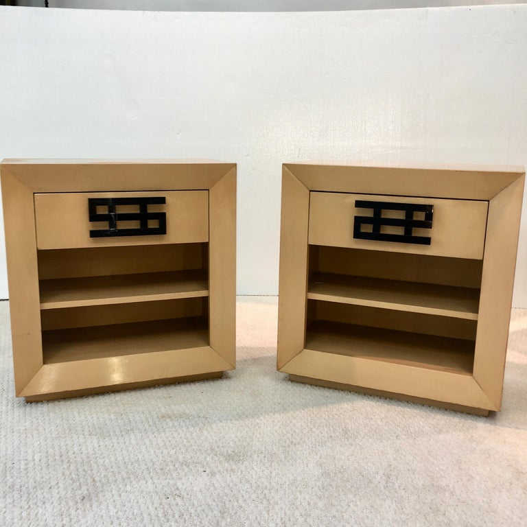 Maximilian Karp Pair of Nightstands In Good Condition For Sale In Hingham, MA