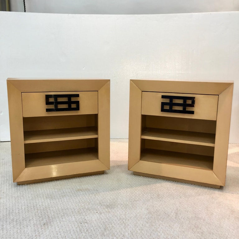 Mid-20th Century Maximilian Karp Pair of Nightstands For Sale