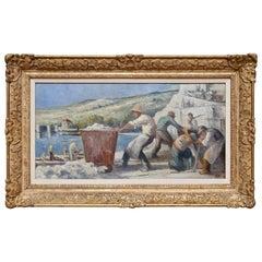 Maximilian Luce Paysage a Mericourt Large Oil Painting 1920