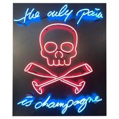 "Maximilian Wiedemann, Sculpture Neon Lamp "" Champagne "", 2015"