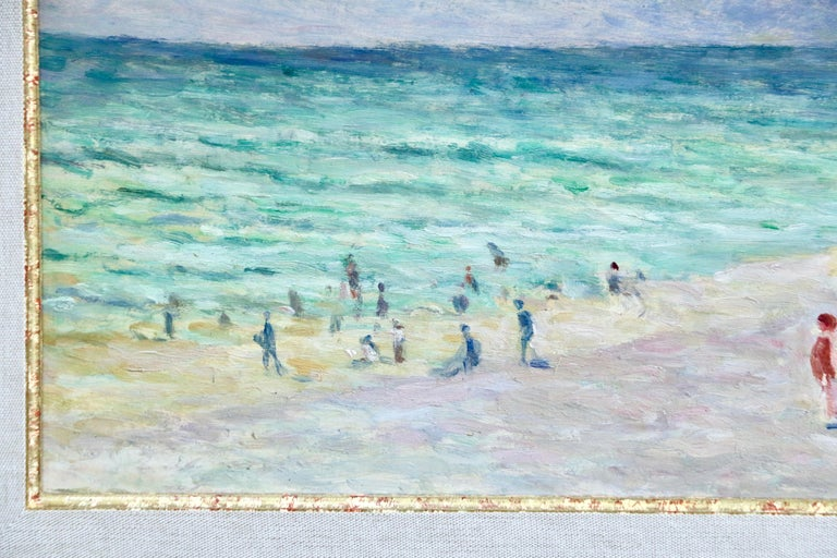 A stunning oil on canvas by popular French artist, Maximilien Luce. A perfectly coloured and superb piece. Signed and dated 1931 lower right. Framed dimensions are 20 inches high by 27 inches wide.  This painting is included in the Catalogue