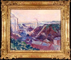 Industrial Valley - 19th Century Impressionist Oil, Landscape - Maximilien Luce