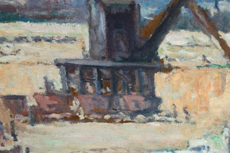 Industrie-Charleroi - Impressionist Oil, Figures in Landscape by Maximilien Luce For Sale 11