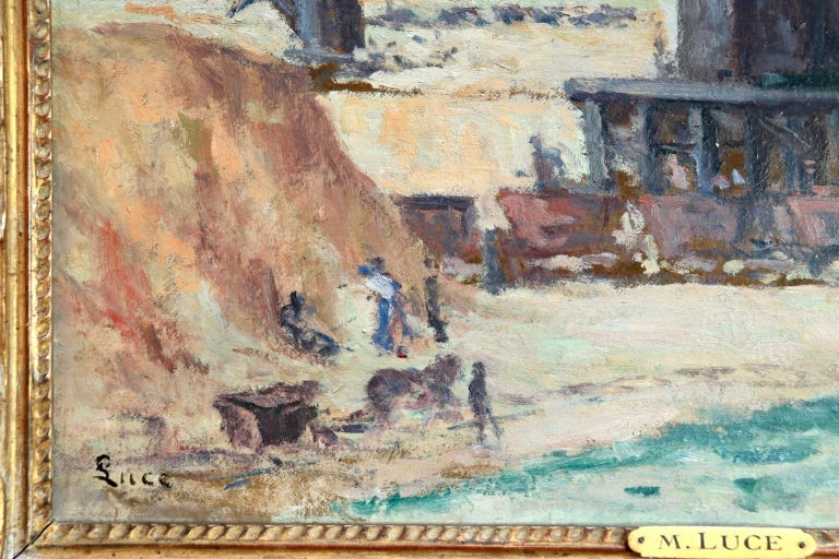 Industrie-Charleroi - Impressionist Oil, Figures in Landscape by Maximilien Luce For Sale 5