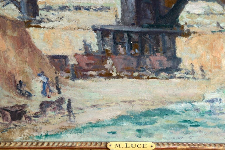 Industrie-Charleroi - Impressionist Oil, Figures in Landscape by Maximilien Luce For Sale 7