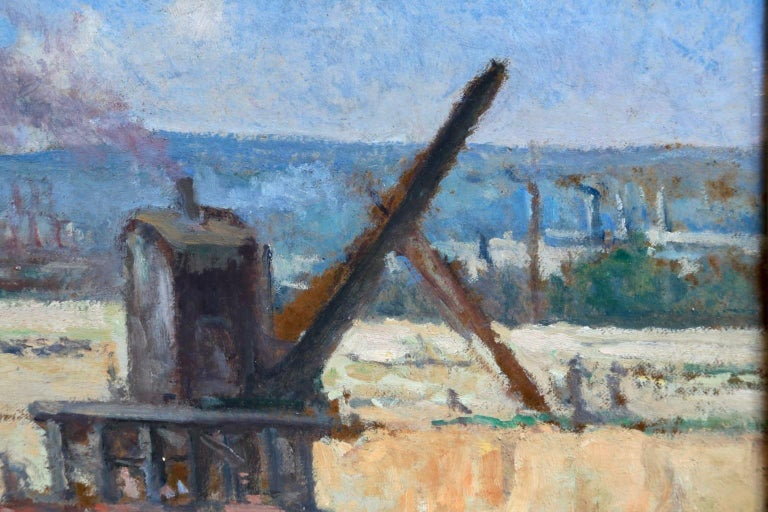 Industrie-Charleroi - Impressionist Oil, Figures in Landscape by Maximilien Luce For Sale 8