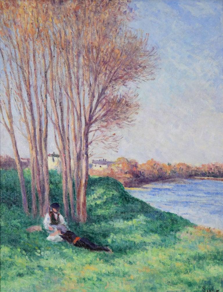 Printemps Saint-Ay de la Loire by Maximilien Luce - Impressionist landscape art For Sale 1