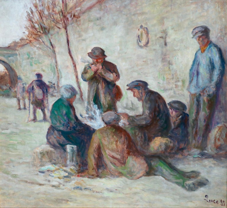 A charming oil on canvas by popular and notable French artist Maximilien Luce. A simply superb and outstanding piece. Signed and dated 1933 lower right. Framed dimensions are 26 inches high by 28 inches wide.   Maximilien Luce was a French