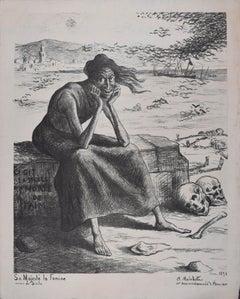 Sa Majesté la Famine - Original Lithograph by Maximilien Luce - 1898
