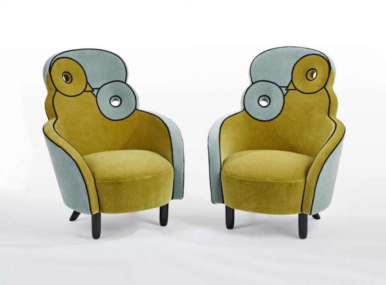Modern Maxous Armchair by Hubert le Gall For Sale