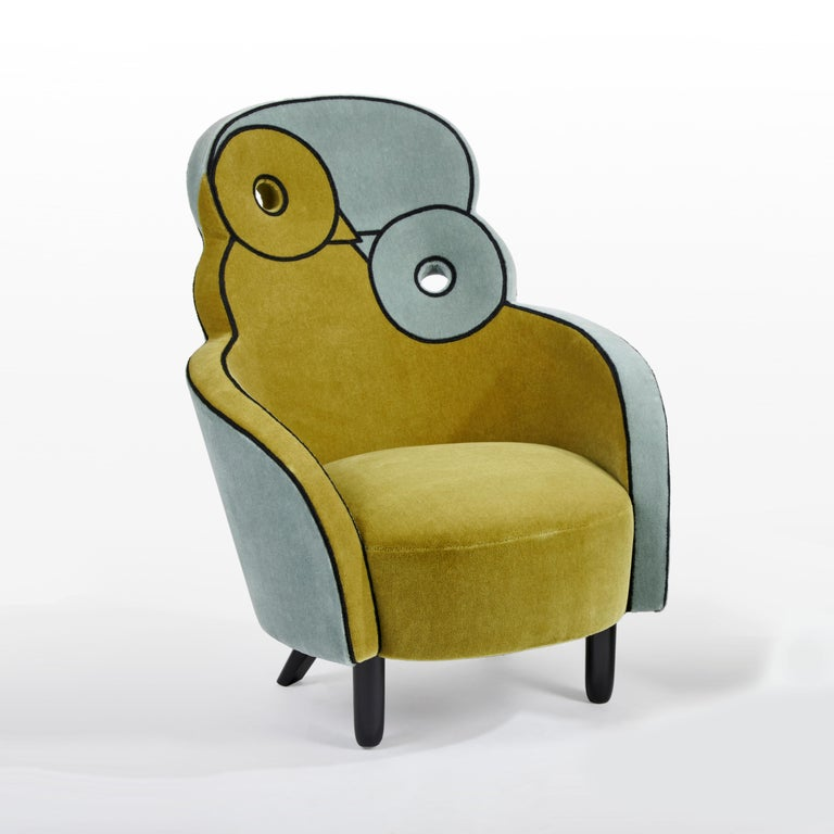 French Maxous Armchair by Hubert le Gall For Sale