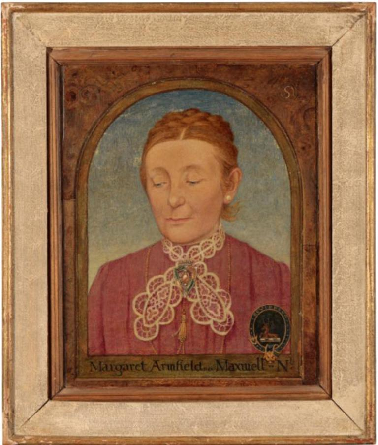 Maxwell Ashby Armfield Portrait Of The Artist's Mother Margaret Armfield Maxwell - Brown Portrait Painting by Maxwell Ashby Armfield