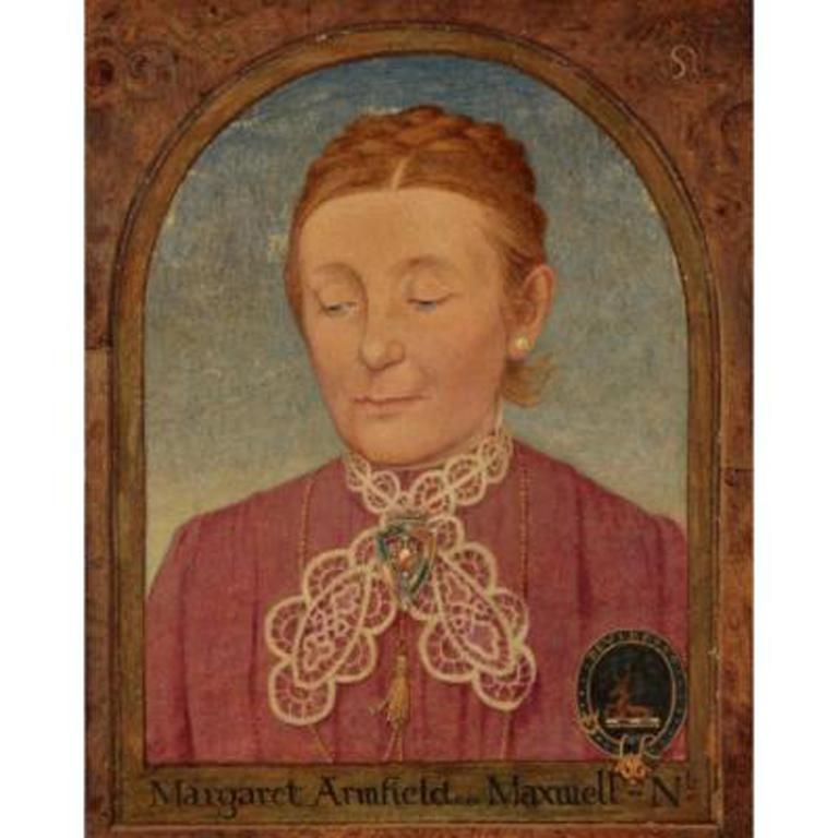 Maxwell Ashby Armfield Portrait Of The Artist's Mother Margaret Armfield Maxwell - Painting by Maxwell Ashby Armfield