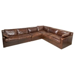 Maxwell Leather Sectional Sofa by Restoration Hardware-Four Sections