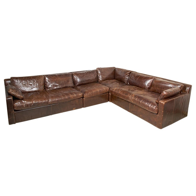 Maxwell Leather Sectional Sofa By