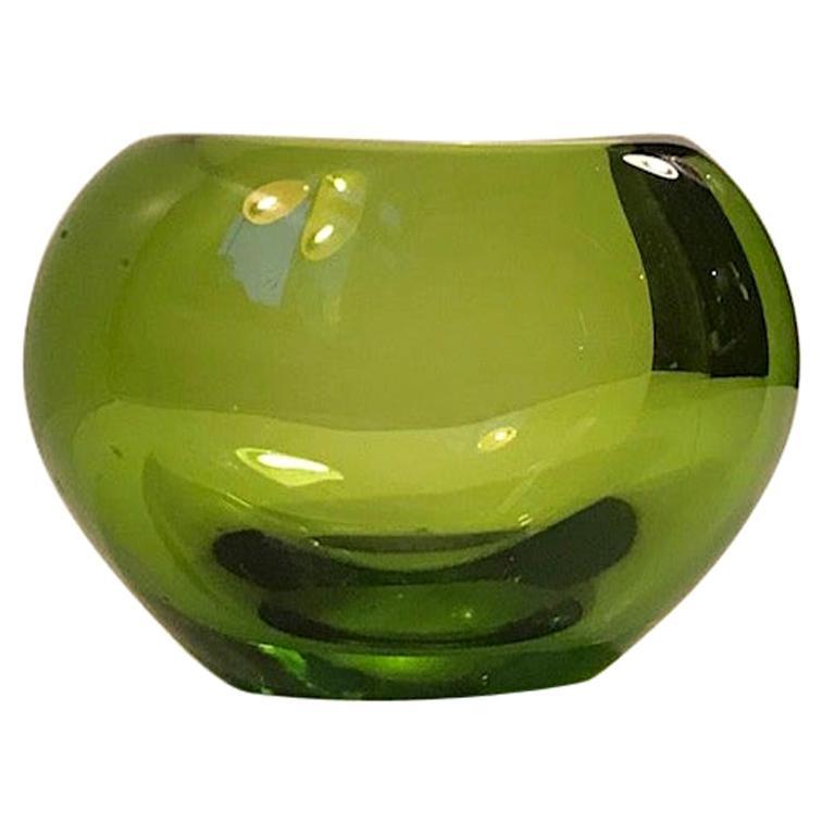 May Green Heart Vase by Per Lütken for Holmegaard, 1950s