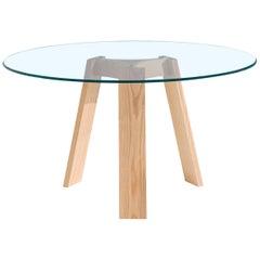 Maya Dining Table, Natural Ash and Glass by Lars Beller Fjetland