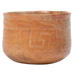 Maya Incised Orangeware Bowl