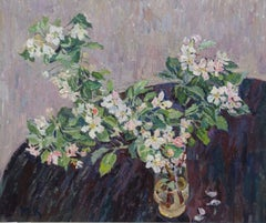 """Apple branch in bloom "" cm. 50 x 60  1994"