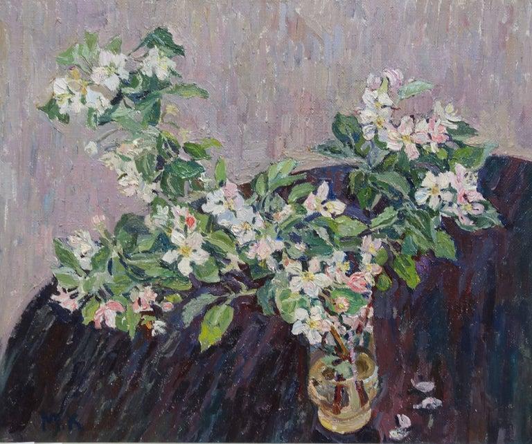 """Apple branch in bloom "" cm. 50 x 60  1994"