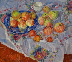 Fruit on the table ,Still life ,  oil  cm 62 x 67