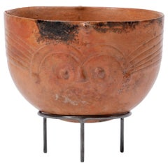 Maya Orangeware Bowl with Face