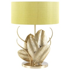 Maya Table Lamp in Brass Structure with Cedar Shade by Roberto Cavalli