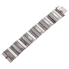 Mayan Inspired Georg Jensen Sterling Silver Bracelet 65