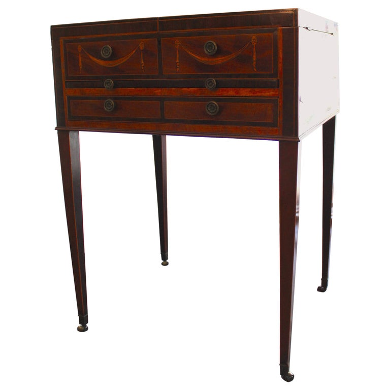 Mayhew & Ince Sheraton Style Dressing Table, circa 1780 For Sale